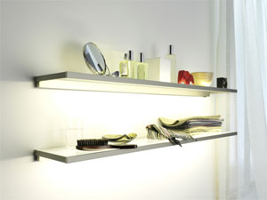 Gera's Lighting System 4 can be installed in cabinetry or integrated into furniture.
