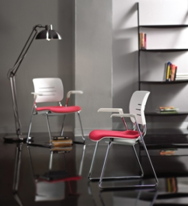 KI's new Grazie seating collection includes task and stack chairs.